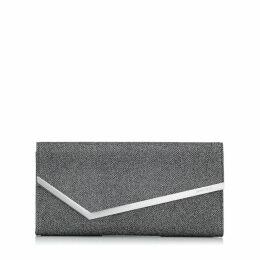 ERICA Anthracite Lamé Glitter Clutch Bag