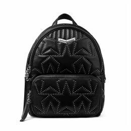 HELIA BACKPACK Black Star Matelassé Nappa Leather Backpack with Mini Studs