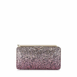 ELLIPSE Candyfloss and White Sand Party Coarse Glitter Dégradé Fabric Clutch Bag