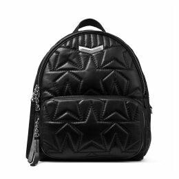 HELIA BACKPACK Black Embossed Star Matelassé Nappa Leather Backpack