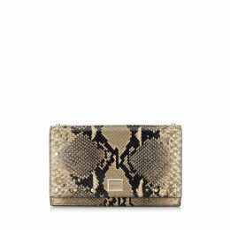 LIZZIE White Sand Printed Leather Mini Bag with Star and Stud Trim