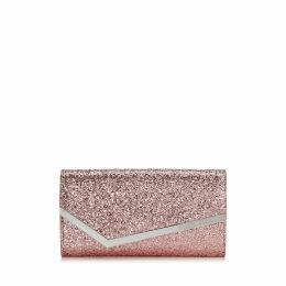EMMIE Candyfloss Galactica Glitter Fabric Clutch Bag