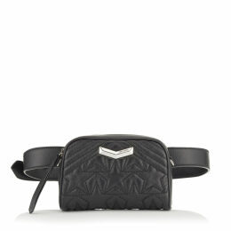 HELIA CAMERA BAG Black and Silver Star Matelassé Nappa Leather Camera Bag with Embossed Stars