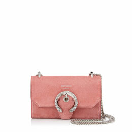 PARIS Candyfloss Suede Mini Bag with Crystal Buckle