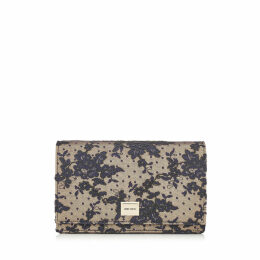 LIZZIE Navy Floral Lace Mini Bag