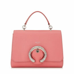 MADELINE TOP HANDLE Candyfloss Calf Leather Top Handle Bag with Crystal Buckle