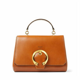 MADELINE TOP HANDLE Cuoio Calf Leather Top Handle Bag with Metal Buckle