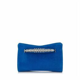 VENUS Electric Blue Suede Clutch Bag