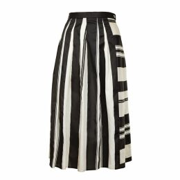 JIRI KALFAR - Noir Créme Stripe Skirt