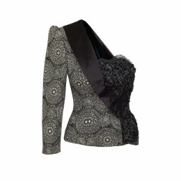 JIRI KALFAR - Dark Bohemian Pattern One Shoulder Jacket