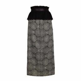 JIRI KALFAR - Dark Bohemian Pattern High Waist Pencil Skirt