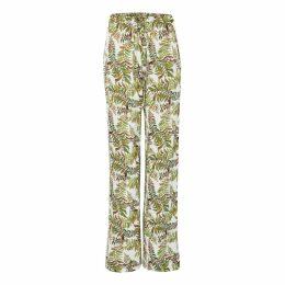 JIRI KALFAR - Latte Silk Blouse With Cuffed Sleeves