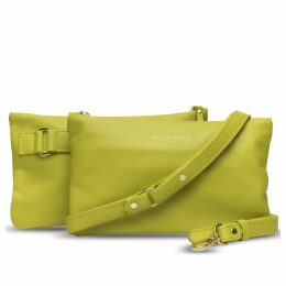 Holly & Tanager - Companion Mini Leather Crossbody Clutch In Yellow
