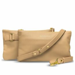 Holly & Tanager - Companion Mini Leather Crossbody Clutch In Buttercream