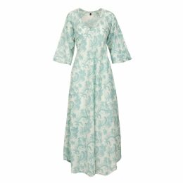 At Last. - Anna Cotton Dress - Duck Egg Blue