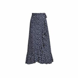 Rumour London - Stella Ruffled Floral-Print Wrap Skirt