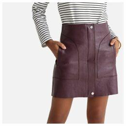 Leather Zipped Mini Skirt