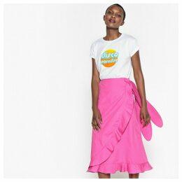 Cotton Ruffled Wrapover Skirt