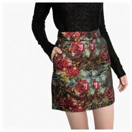 High-Waisted Jacquard Skirt