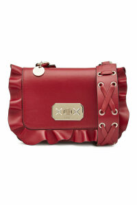 RED (V) Leather Crossbody Bag