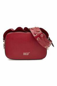 RED (V) Leather Crossbody Bag