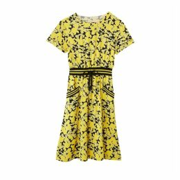 Mid-Length Sporty Dress in Floral Print