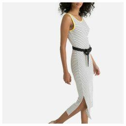 Striped Bodycon Tank Midi Dress
