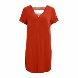 Visommi V-Neck Shift Dress with Openwork Back