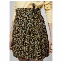 Butterfly Wing Print Short Wrapover Skirt