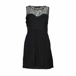 Laced Sleeveless Skater Dress