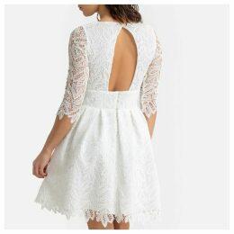 Guipure Lace Cocktail Dress