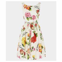 Fraicheur Floral Print Vintage Sleeveless Dress