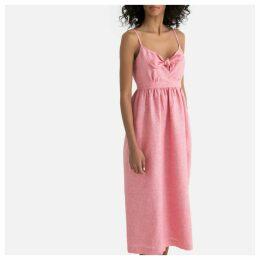 Linen Long Strappy Dress