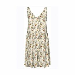 Simply Easy Pleated Mini Dress in Butterfly Floral Print