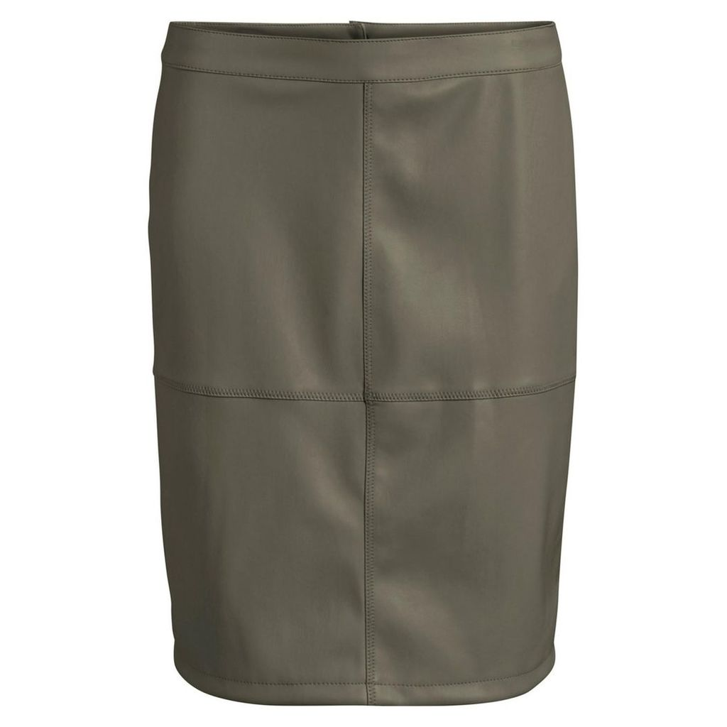 Knee Length Straight Skirt with Zip Fastening