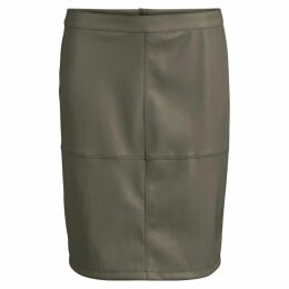 Knee Length Straight Skirt with Zip Fastening