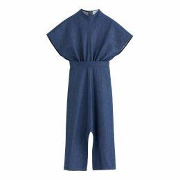 Denim Long Sleeveless Dress