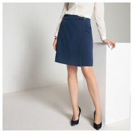 Short Stretch Twill Pencil Skirt