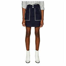 Retro Skirt with Pocket Details and Belt