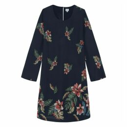 Floral Print Long-Sleeved Dress