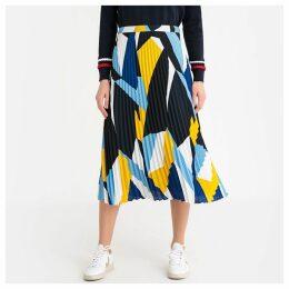 Multi-Coloured Sunray Pleat Skirt