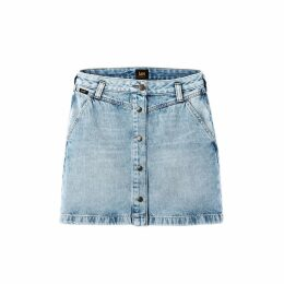 Denim Buttoned Short Straight Skirt
