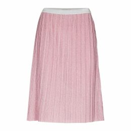 Metallic Look Pleated Skirt