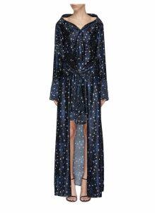 'Overture' star print trompe l'ail silk shirt dress