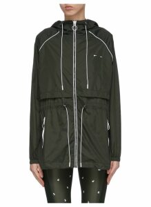 'Ella' drawcord contrast piping water-resistant parka