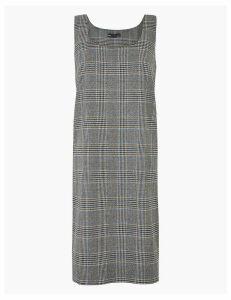 M&S Collection Checked Midi Pinafore Dress