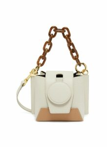 'Daria' colourblock leather bucket bag