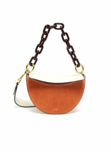 'Doris' suede and leather shoulder bag