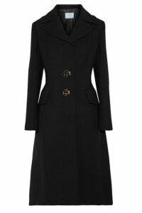 Prada - Wool-crepe Coat - Black
