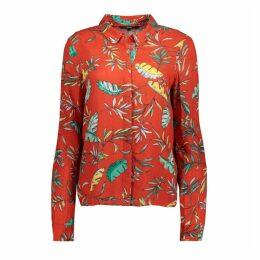 Palm Print Long-Sleeved Shirt